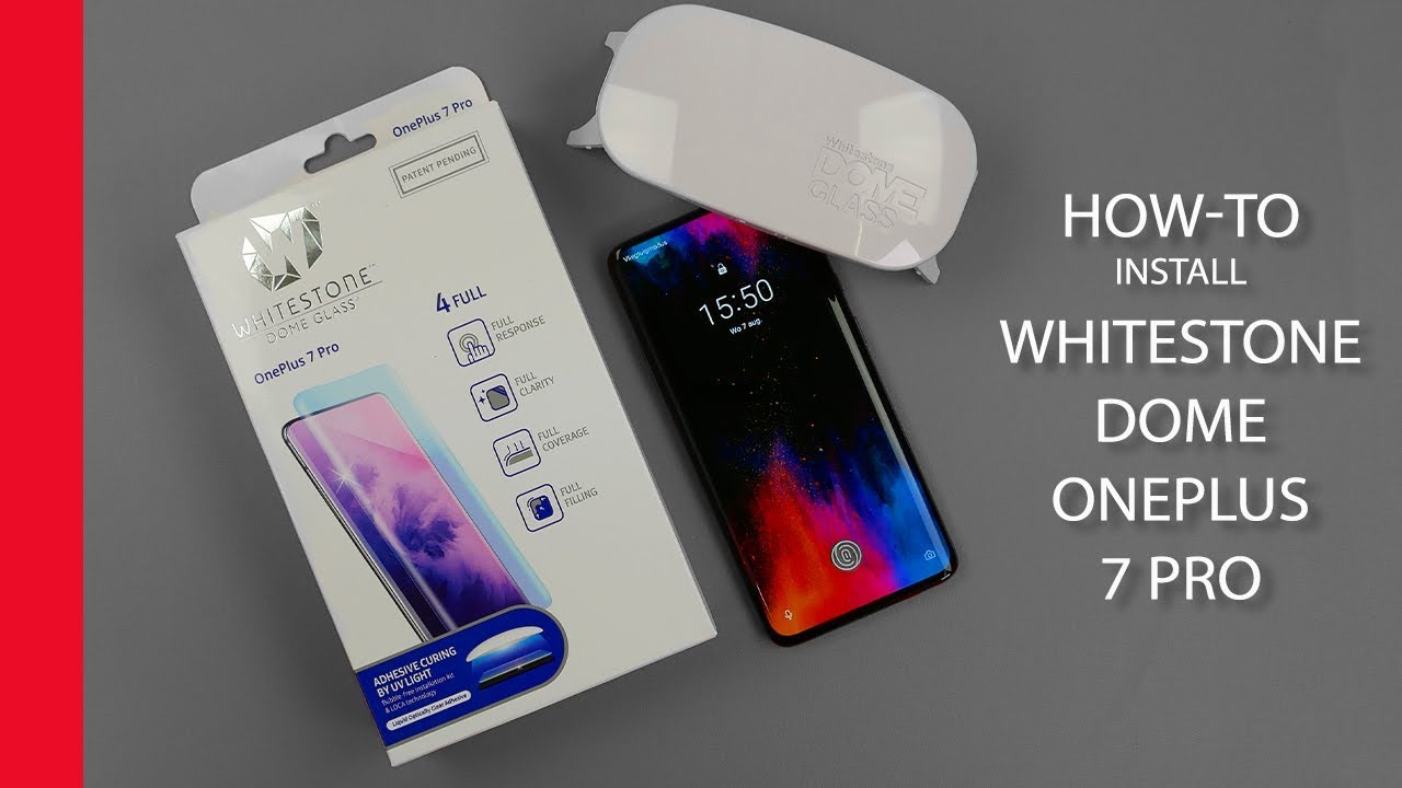 How-to: Whitestone Dome Glass Screen Protector installatie OnePlus 7 and 7T Pro