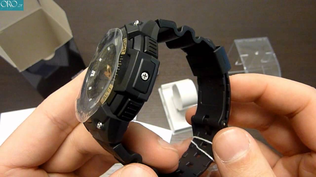 5485815d894 CASIO Collection Mens Watch SGW-400H-1B2VER - E-oro.gr - YouTube