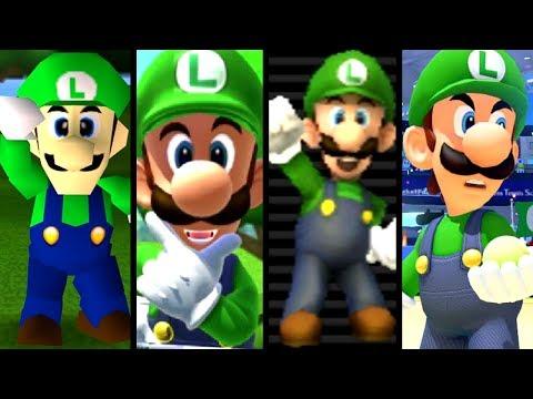 Download Youtube: Super Mario Evolution of LUIGI'S VOICE 1997-2017 (N64 to Switch)