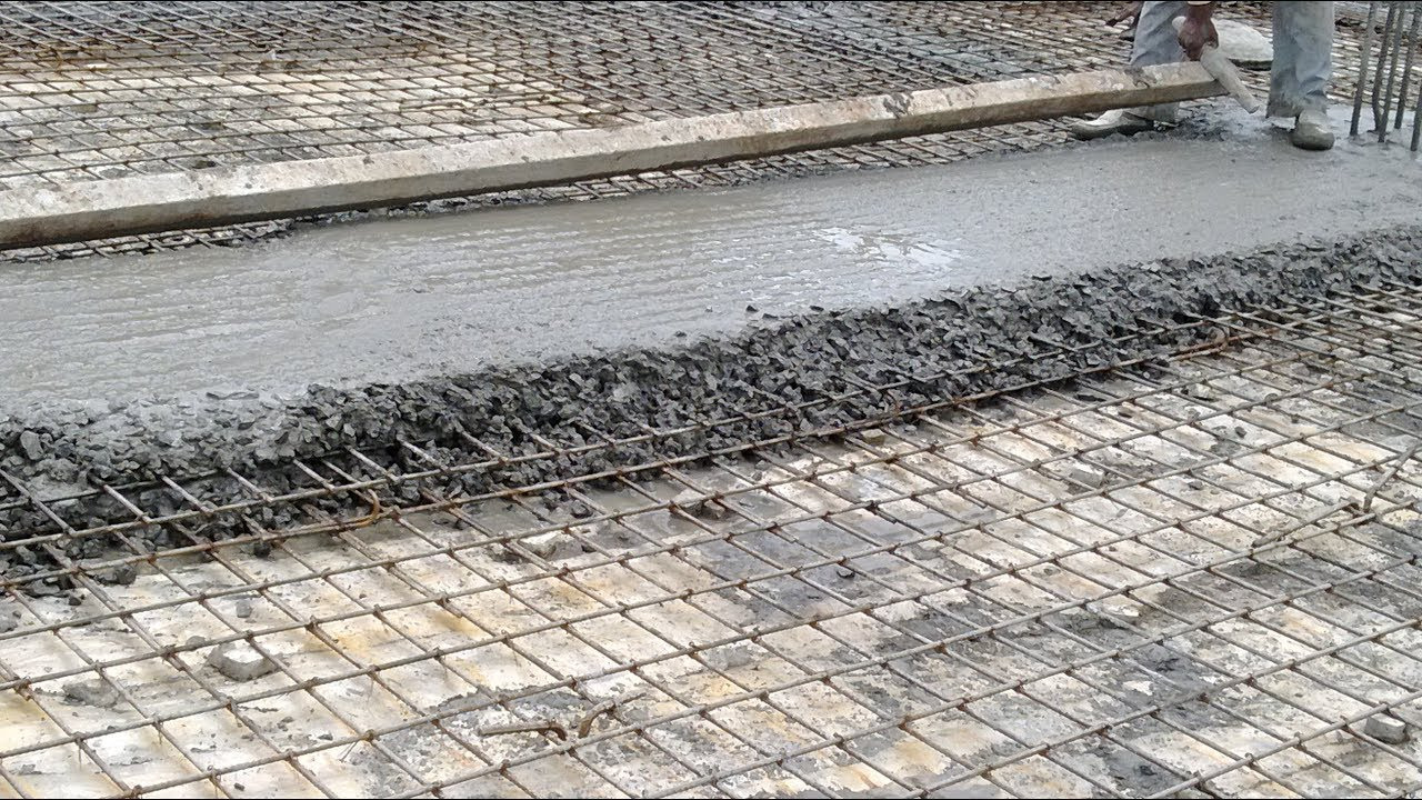 Reinforced Cement Concrete : Two way roof slab bar binding reinforcement cement