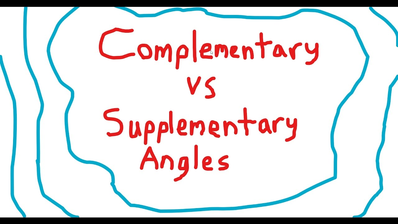 how to remember supplementary angles and complementary angles