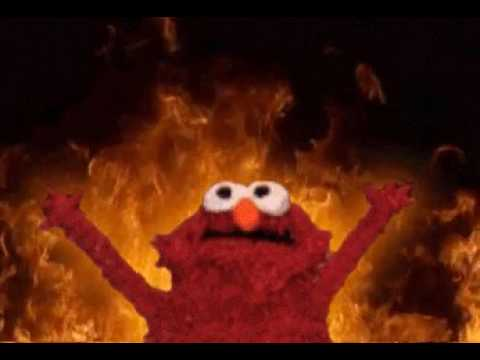 Elmo *IS* on fire - YouTube