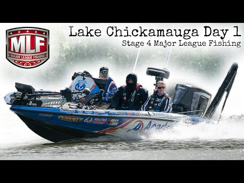 Major League Fishing on my HOME lake! Lake Chickamauga Day 1 BPT