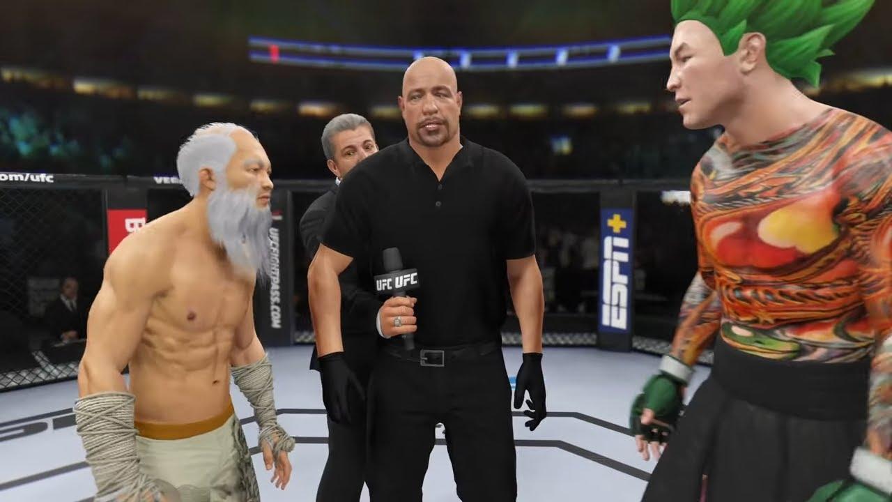 Old Bruce Lee vs. Son Goku - EA Sports UFC 4 - Crazy UFC ??