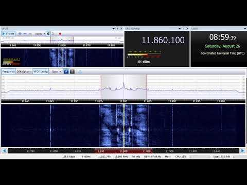 26 08 2017 Republic of Yemen Radio in Arabic to ME 0957 on 11860 Riyadh, 1000 on 11860 unknown tx