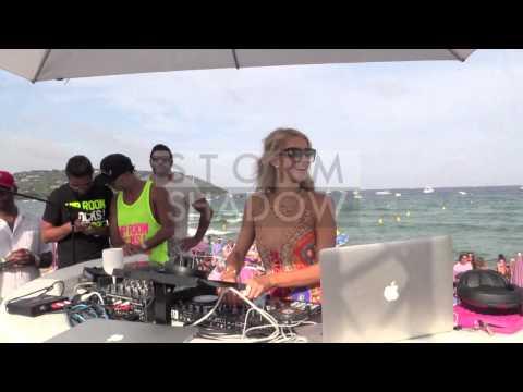 Paris Hilton DJ Set At The Eden Beach In Saint Tropez