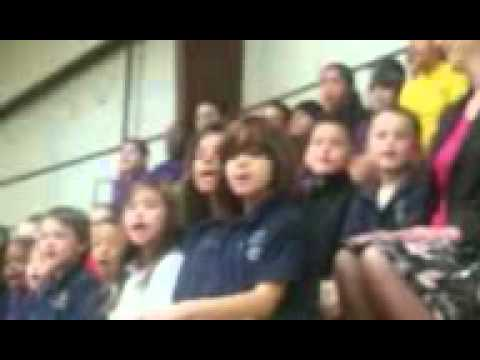 Bennett Academy sing Oh, America!