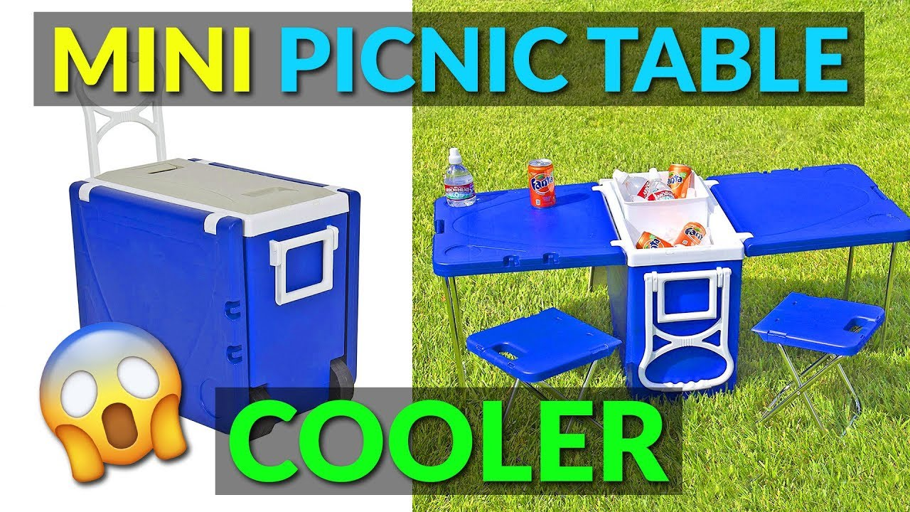 This cooler has a built in picnic table and chairs youtube this cooler has a built in picnic table and chairs watchthetrailerfo