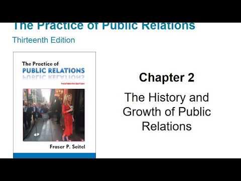 Seitel's Practice of PR, 13th edition, Ch. 2 Lecture