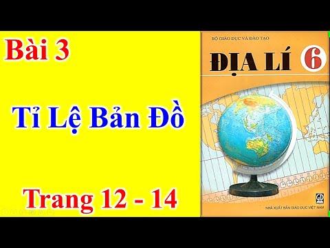 Địa Lí Lớp 6 Bài 3 – Tỉ Lệ Bản Đồ - Trang 12 - 14