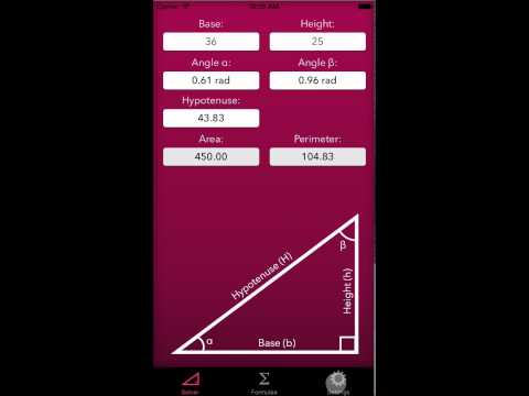 Trigonometry Help — Triangle Calculator + Formulae for iOS