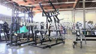 For Sale Hammer Strength Iso Lateral High Row used Plate loaded