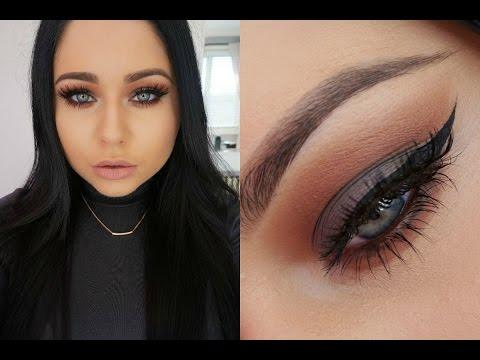 Cool Grey & Rich Warm Brown Smokey Eye Makeup Tutorial