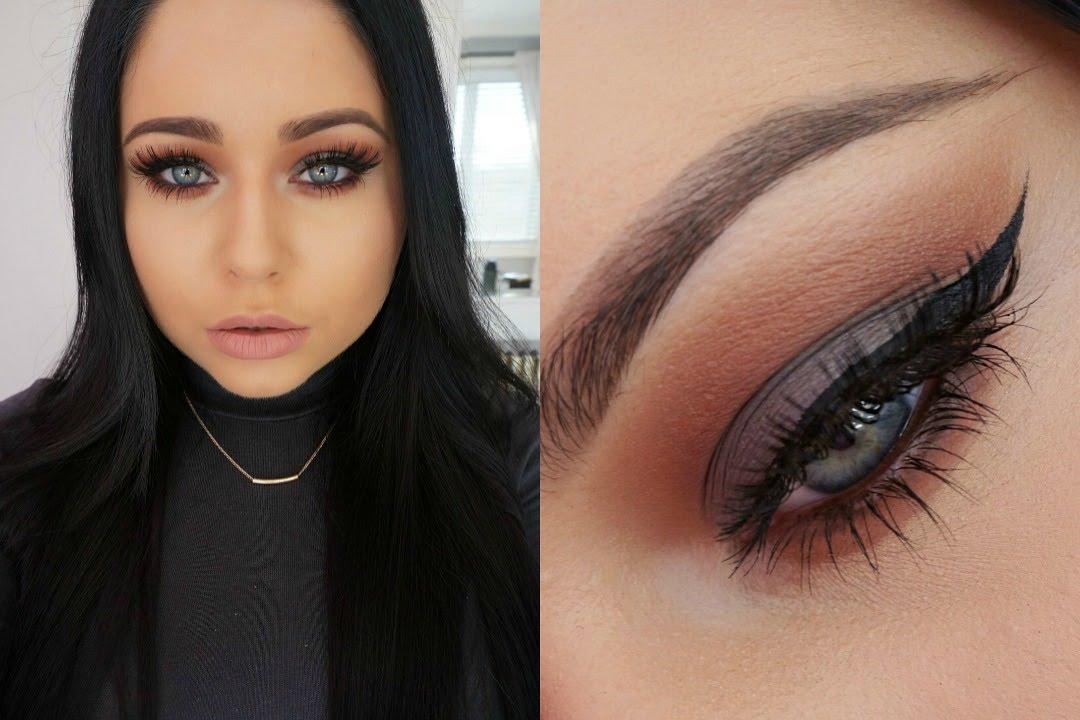 Cool Grey Rich Warm Brown Smokey Eye Makeup Tutorial You