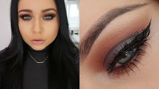 Cool Grey & Rich Warm Brown Smokey Eye Makeup Tutorial
