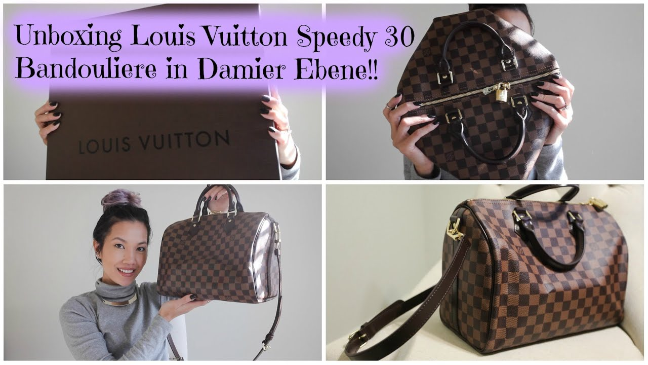 aaa66856bed2 Unboxing Louis Vuitton Speedy 30 Bandouliere - Damier Ebene - YouTube