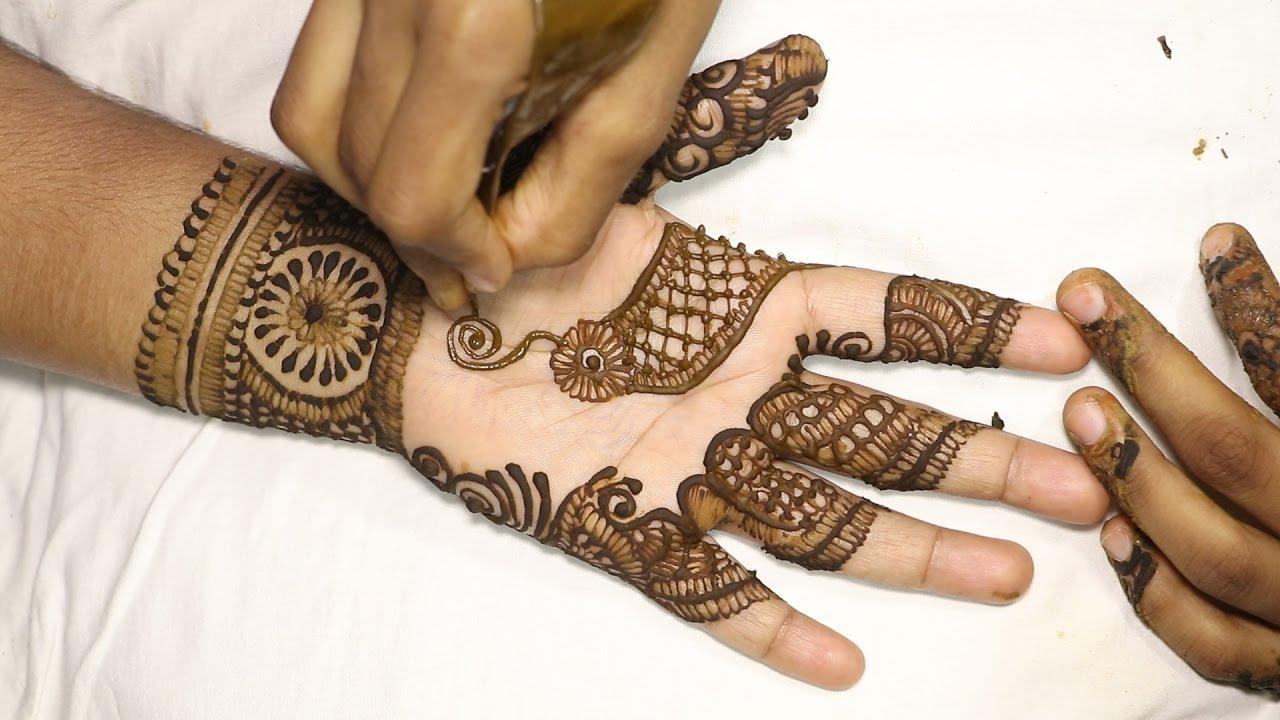 Front Hand Henna Mehndi Design : Beautifull front hand mehndi design tutorial