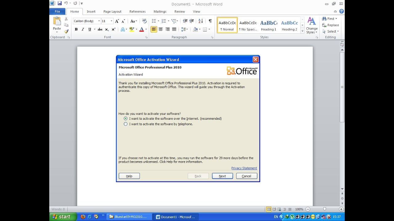 cara mengaktivasi microsoft office 2010 gratis