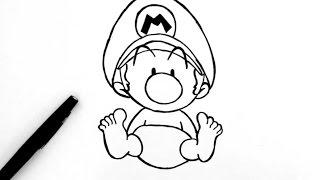 Comment dessiner bébé Mario