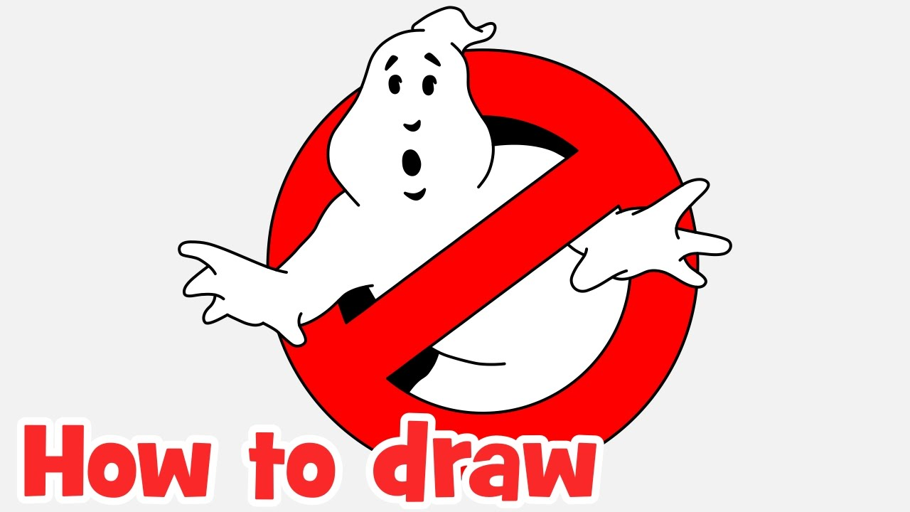 How to draw Ghostbusters logo step by step - YouTube