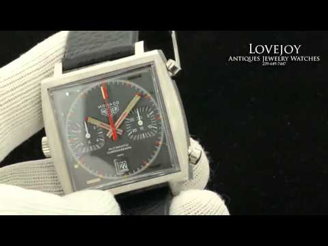 Heuer Monaco Vintage Caliber 11 Automatic Chronograph Rare Steve McQueen Watch
