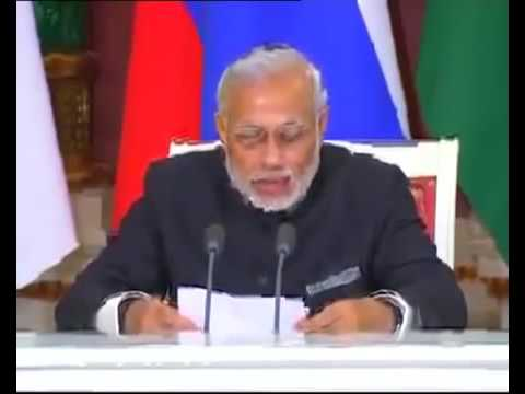 Pm MOdi Joint Press Statement with President Putin in Moscow, Russia