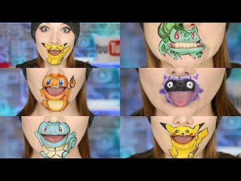 POKEMON GO 5 Characters Lip Art