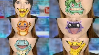 POKEMON GO!!! 5 Characters Lip Art!