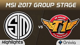 TSM vs SKT Highlights MSI 2017 Group Team Solo Mid vs SK Telecom T1 by Onivia