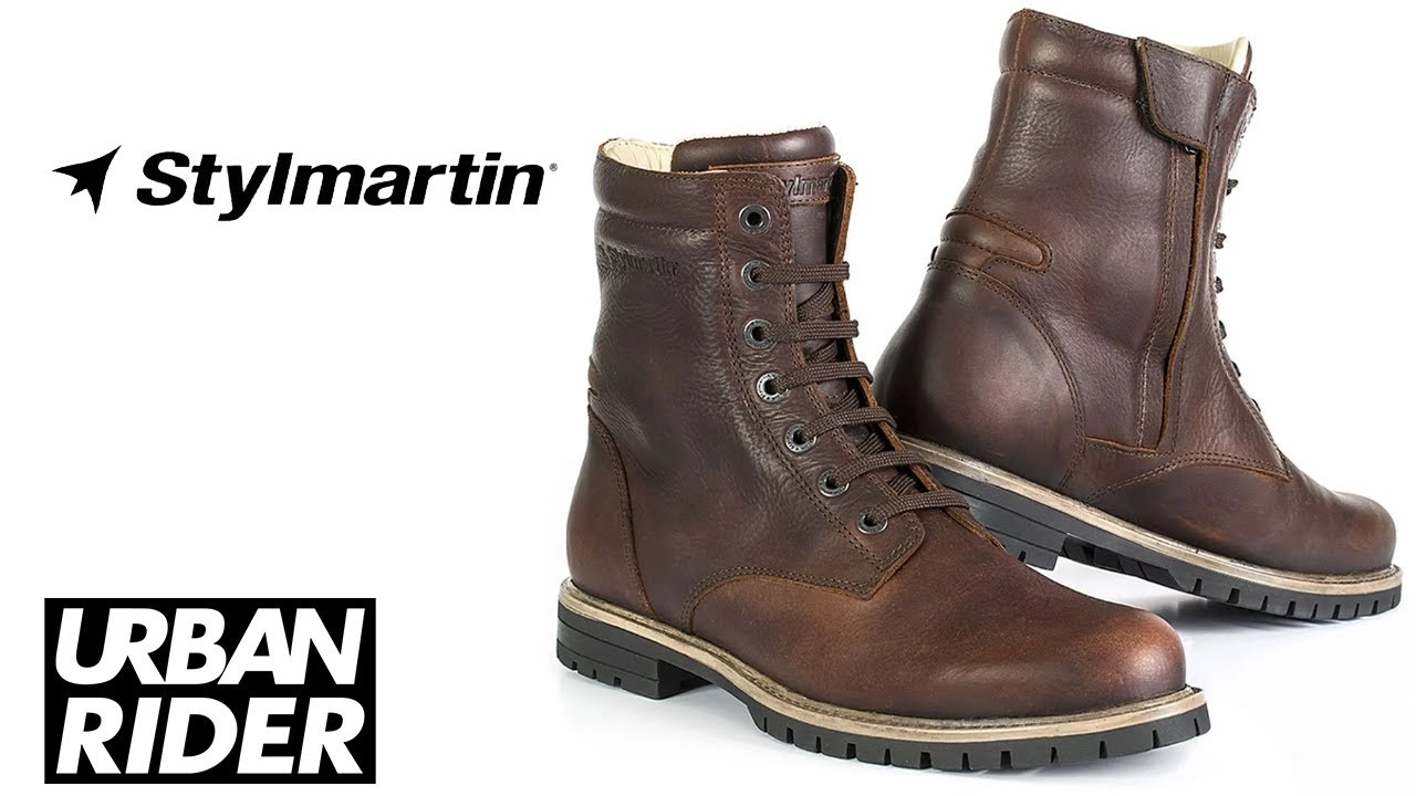 Stylmartin Ace Leather Motorcycle Boots Review by URBAN RIDER - YouTube 26413fc94