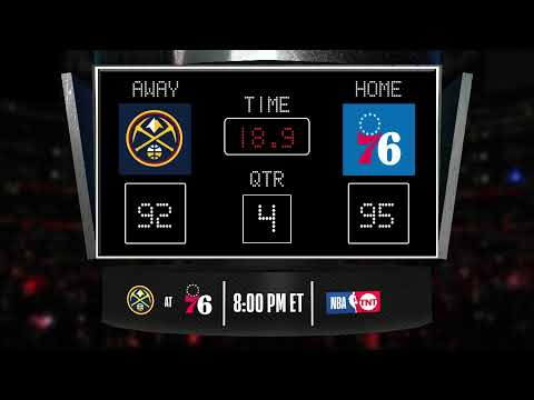Nuggets @ 76ers LIVE Scoreboard - Join The Conversation & Catch All The Action On #NBAonTNT