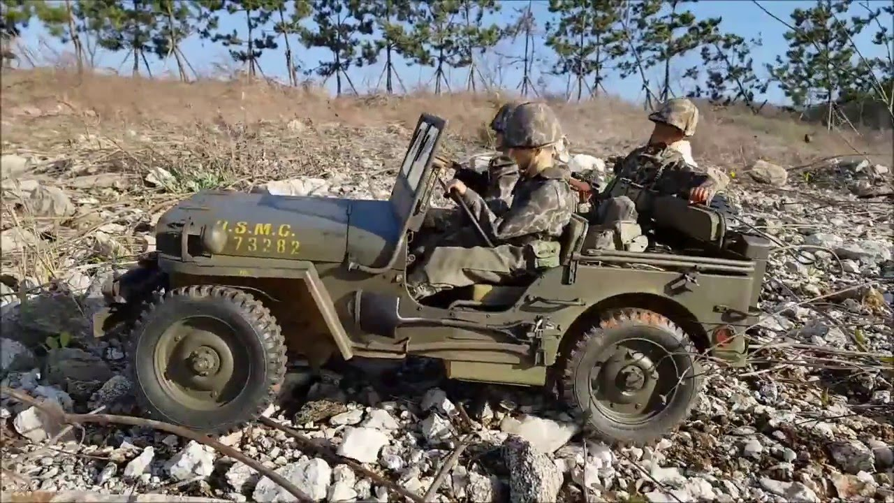 Army Jeeps For Sale >> 1/6 Willys Jeep Scale RC by Blue Steel Custom works - YouTube