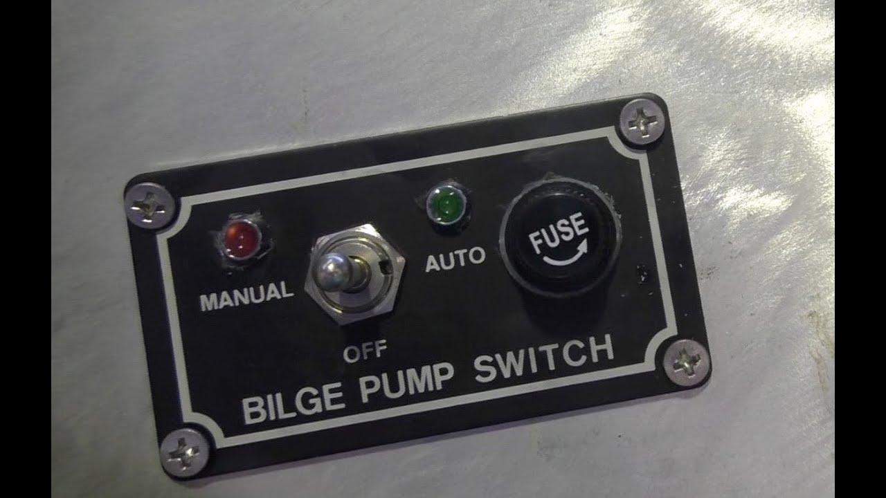 Wiring a bilge pump in a boat  YouTube