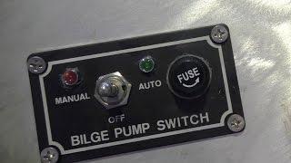 Wiring a bilge pump in a boat - YouTube | Bass Boat Bilge Pump Wiring Diagram |  | YouTube