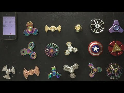 Fidget spinners review 10 minutes spinner, batman, Globe , BMW , apple ,  Gear, Superhero