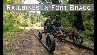 Riding the Skunk Train Railbikes in Fort Bragg