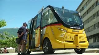 حافلات بلا سائق بمدينة سيون السويسرية