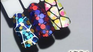 Камифубуки на ногтях🌼Дизайн ногтей гель лаком🌼Nail Design Shellac