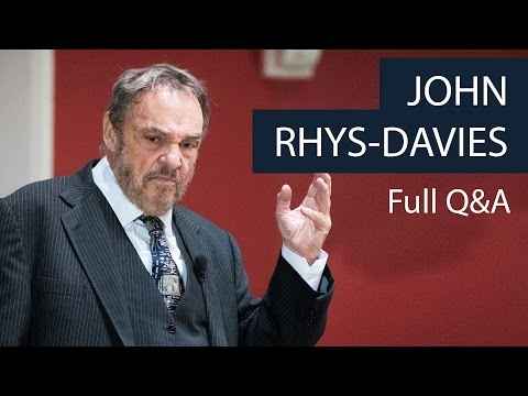 John RhysDavies  Full Q&A  Oxford Union