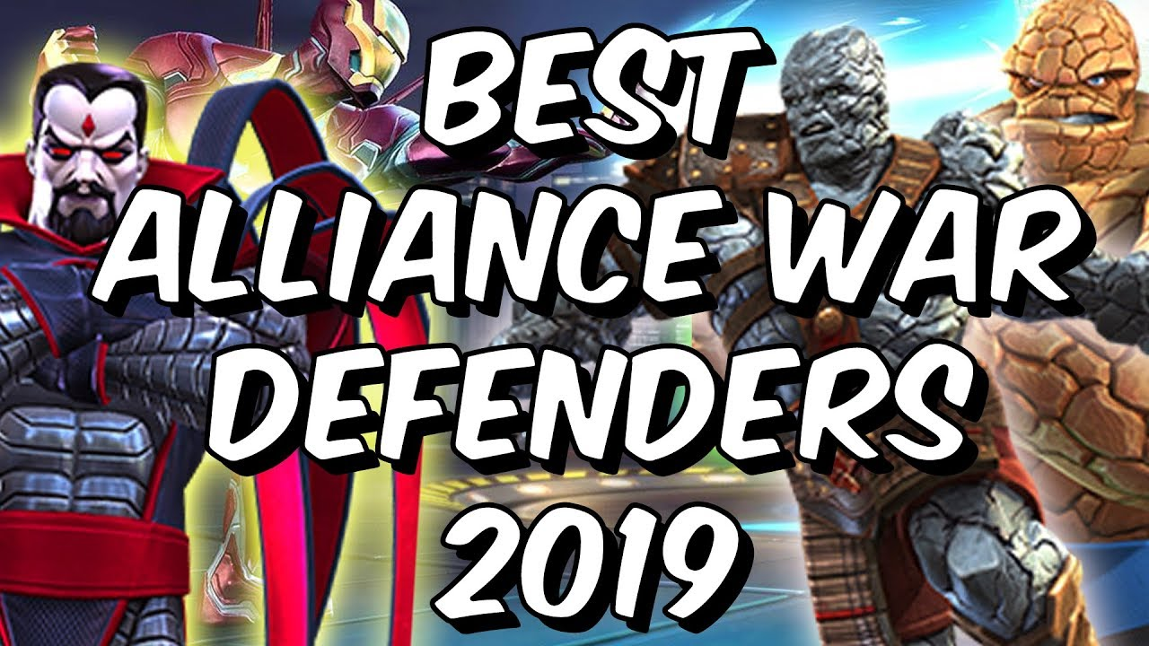 Best Alliance War Defenders 2019 - Seatin's Tier List - Marvel Contest Of  Champions
