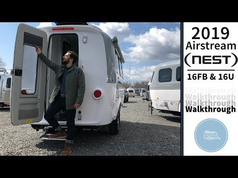Walk Through 2019 Airstream Nest Small Light Weight Camping Trailer Caravan