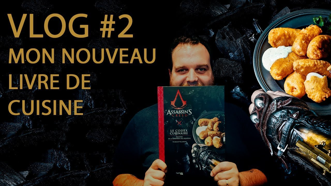 vlog 2 mon livre de cuisine assassin 39 s creed youtube. Black Bedroom Furniture Sets. Home Design Ideas