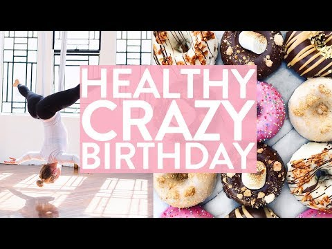 MY BIRTHDAY | Healthy Donuts, Ninja Training + Knock & Run!?