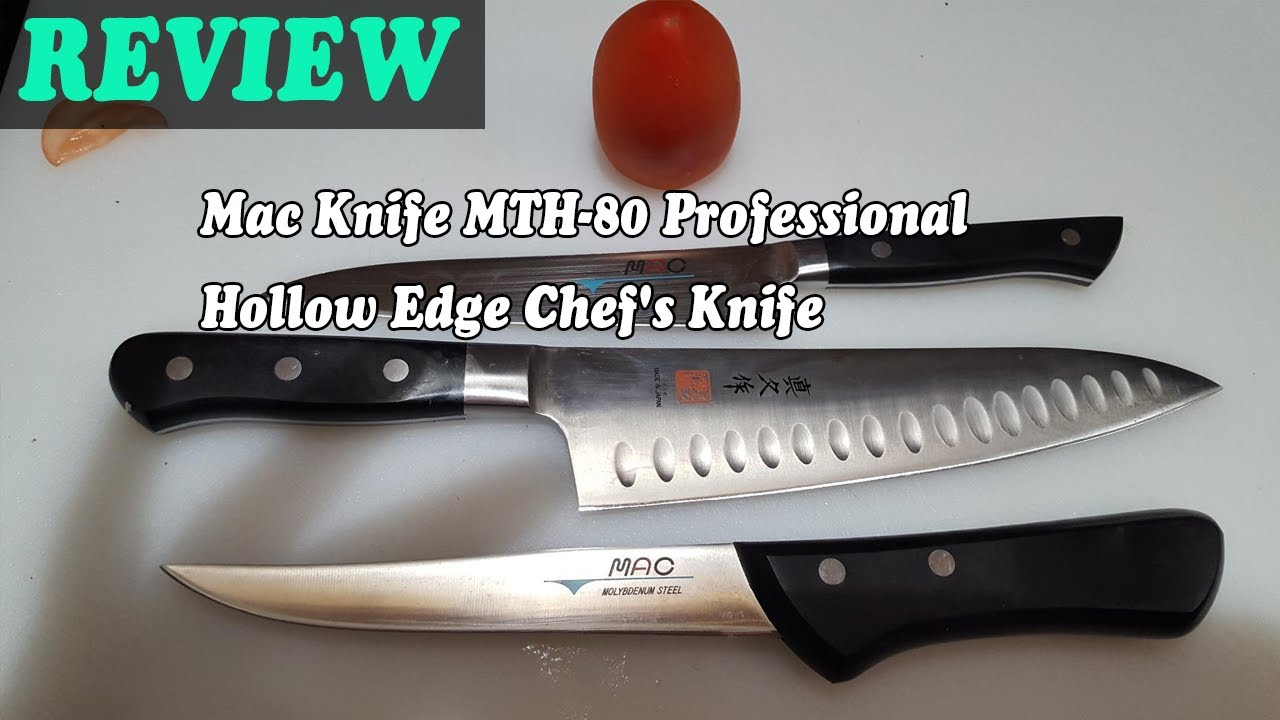 Mac Knife Mth 80 Professional Hollow Edge Chef S Knife Review 2020 Youtube