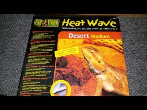 How to install a reptile under tank heater