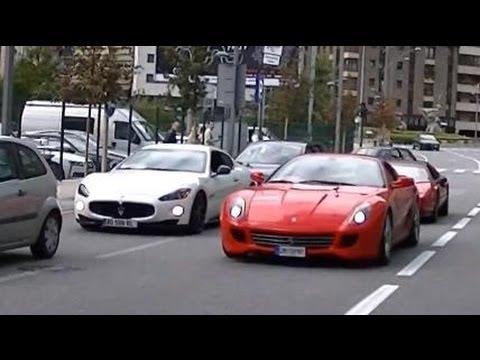 Maserati Granturismo S Vs Ferrari 599 Gtb Crazy Rev Battle Youtube