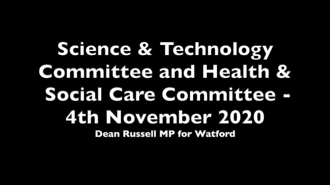 Health & Social Care Committee: Dean asks about vaccine rollout and efficacy