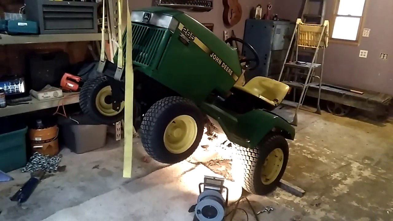 small resolution of how to john deere 265 easy main drive belt install
