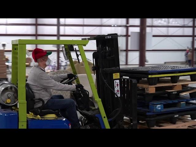 Elf on a Forklift