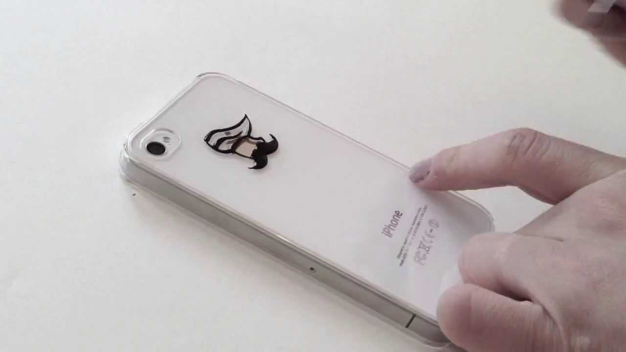 DIY speed ink drawing on phone case Mexican Moustache